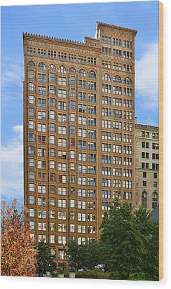 Fisher Building - A Neo-gothic Chicago Landmark Wood Print by Christine Till