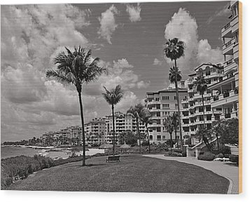 Wood Print featuring the photograph Fisher Island by Lorenzo Cassina