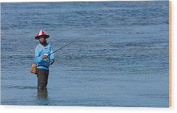 Fisherman - Bali Wood Print