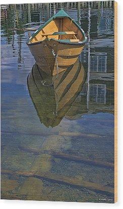 Fisherman's Cove  Wood Print by Ken Morris