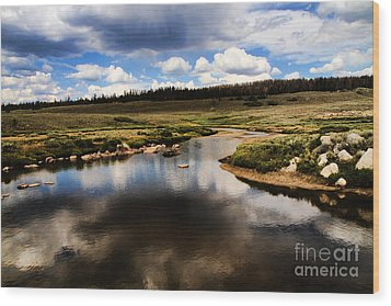 Fishermans Creek Wood Print by Edward R Wisell