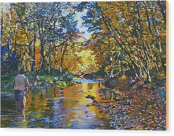 Fisherman's Dream Wood Print by Kenneth Young