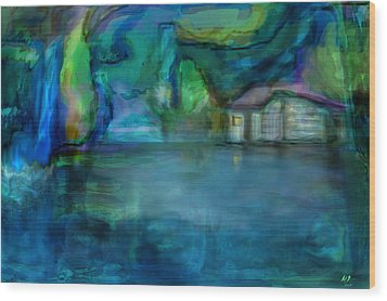 Wood Print featuring the digital art Fishermans Hut by Martina  Rathgens