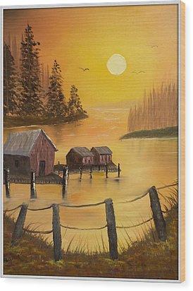 Fisherman's Retreat Wood Print by Joyce Krenson