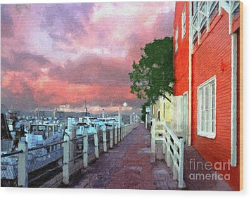 Wood Print featuring the photograph Fisherman's Village Marina Del Mar Ca by David Zanzinger
