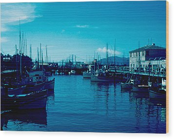 Fisherman's Wharf 1955 Wood Print by Cumberland Warden