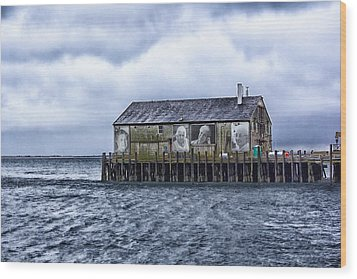 Wood Print featuring the photograph Fishermans Wharf Provincetown Harbor by Constantine Gregory
