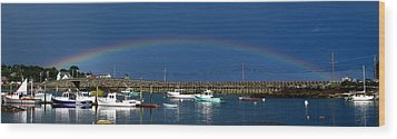 Fishermen's Rainbow Wood Print