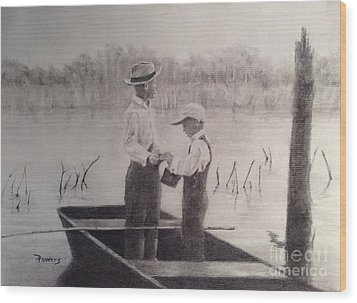 Fishin' Buddies Wood Print