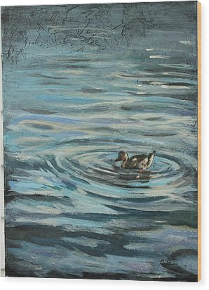 Fishin' Wood Print