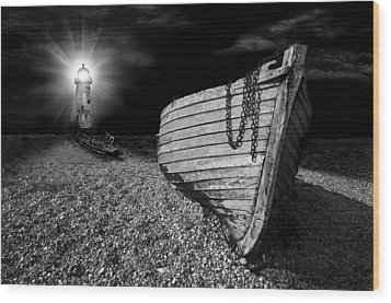 Fishing Boat Graveyard 5 Wood Print by Meirion Matthias