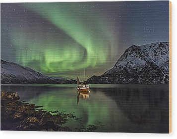 Fishing Boat II Wood Print