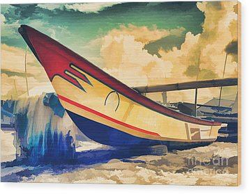 Fishing Boat Wood Print by Yew Kwang