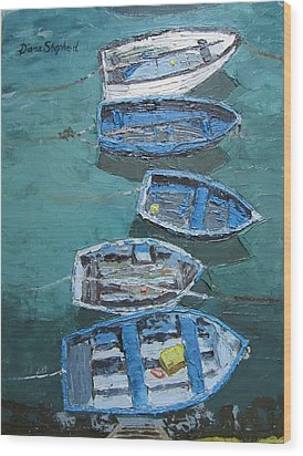 Fishing Boats  Wood Print by Diana Shephard