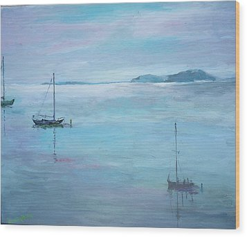 Fishing Boats Wood Print by Dorothy Herron