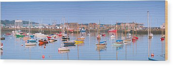Fishing Boats In The Howth Marina Wood Print by Semmick Photo