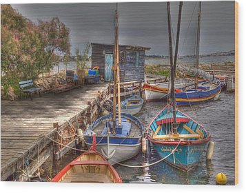 Wood Print featuring the photograph Fishing Boats by Rod Jones