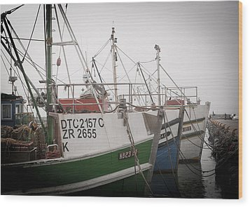 Fishing Boats Wood Print by Tom Hudson