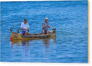 Fishing Buddies Wood Print by Brian Stevens