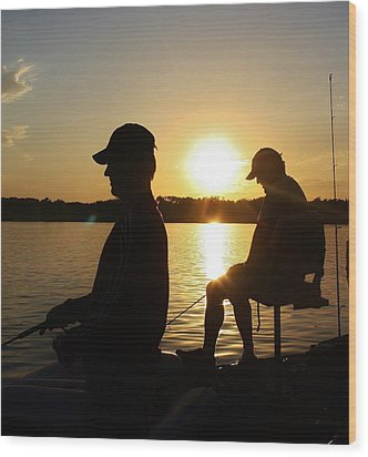 Fishing Buddies Wood Print by Bruce Bley