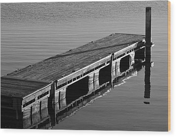 Fishing Dock Wood Print by Frozen in Time Fine Art Photography