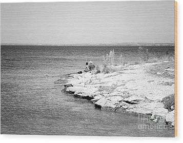 Wood Print featuring the photograph Fishing by Erika Weber