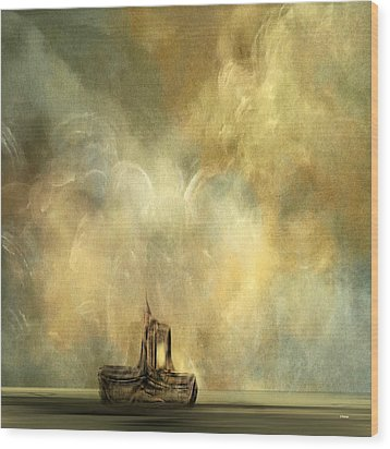 Wood Print featuring the painting Fishing For Lost Souls by Andrew Penman