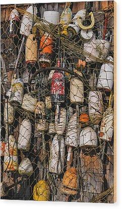 Fishing Gear Cape Neddick Maine Wood Print by Thomas Schoeller