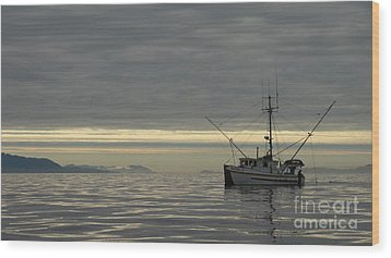 Wood Print featuring the photograph Fishing In Alaska by Laura  Wong-Rose