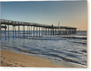 Fishing Pier I Wood Print by Steven Ainsworth