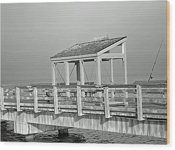 Fishing Pier Wood Print by Tikvah's Hope