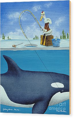 Fishing Stories ... The Orca .. Wood Print by Will Bullas