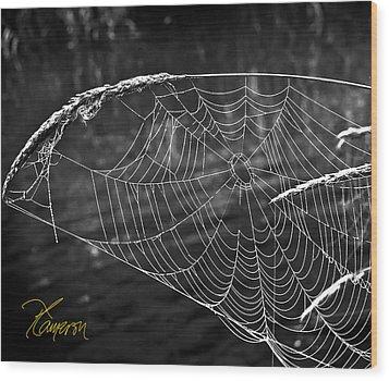 Fishing The Breeze Wood Print