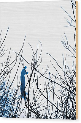 Wood Print featuring the photograph Fishing The River Blue by Robyn King