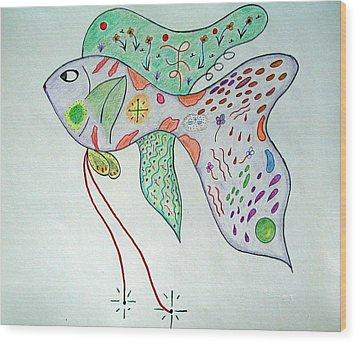 Fishstiqueart 2009 Wood Print by Elmer Baez