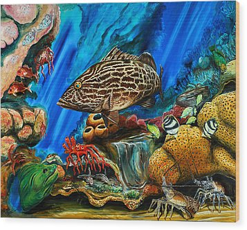 Fishtank Wood Print by Steve Ozment