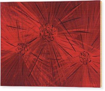 Fission II Wood Print by Rick Roth