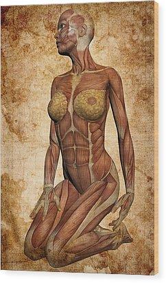Fit Female Revealed Wood Print by Daniel Hagerman