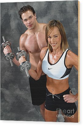 Fitness Couple 17-2 Wood Print by Gary Gingrich Galleries
