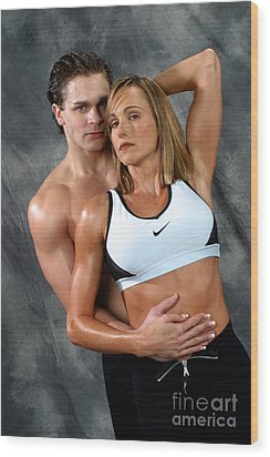Fitness Couple 27 Wood Print by Gary Gingrich Galleries