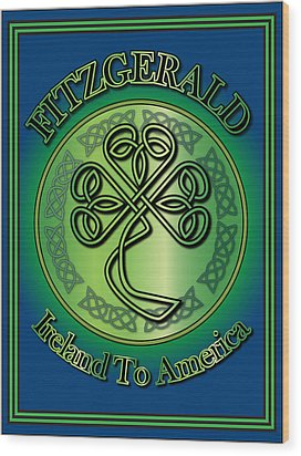 Fitzgerald Ireland To America Wood Print
