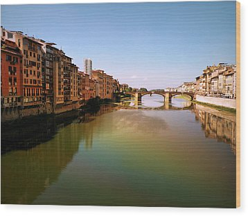 Wood Print featuring the photograph Fiume Di Sogni by Micki Findlay