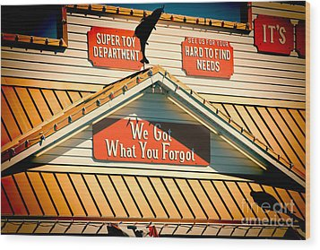Five And Dime Wood Print by Lawrence Burry