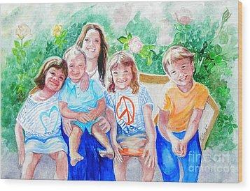 Five Cousins Wood Print by Susan  Clark