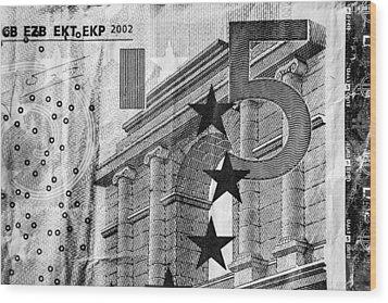 Five Euro Wood Print by Semmick Photo
