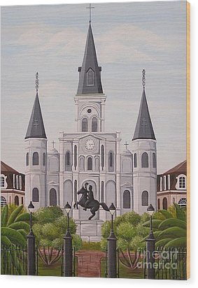 Five Fifteen In New Orleans Wood Print