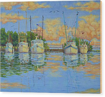 Five Low Country Boats Wood Print