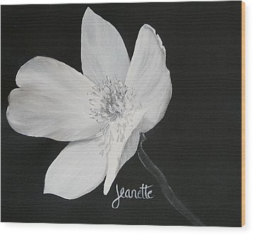 Five Petal Rose Wood Print