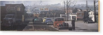 Five Points - 1948 Wood Print