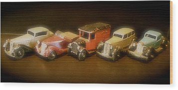 Five Toys From The Forties Wood Print by John Colley